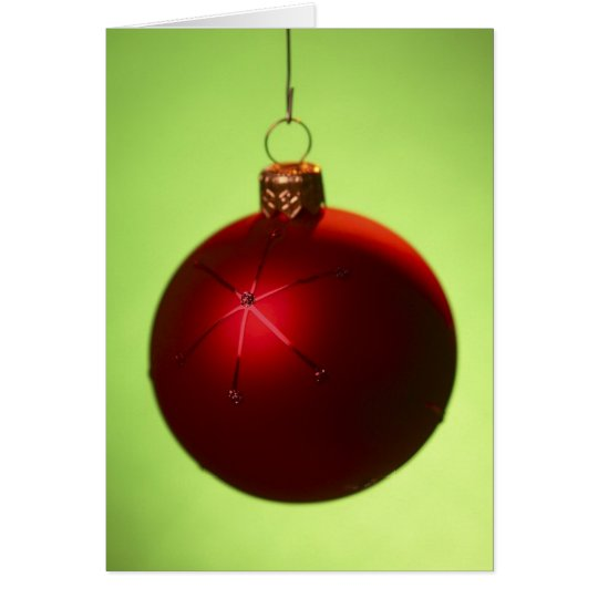 Red Christmas Bauble Card