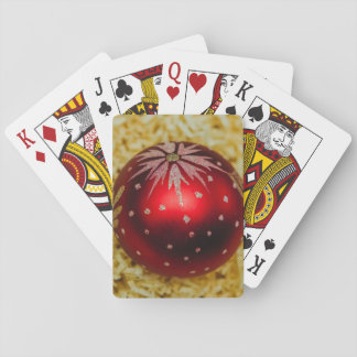 Red Christmas bauble Deck Of Cards