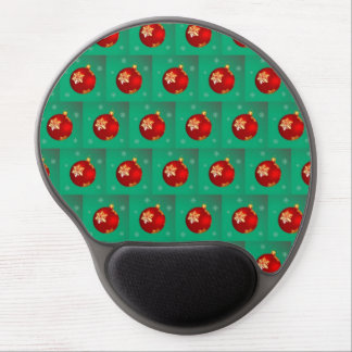 Red Christmas bauble Gel Mouse Pad
