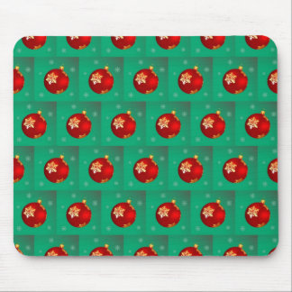 Red Christmas bauble Mouse Pad