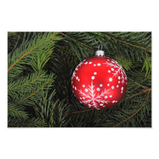 Red Christmas bauble Photo