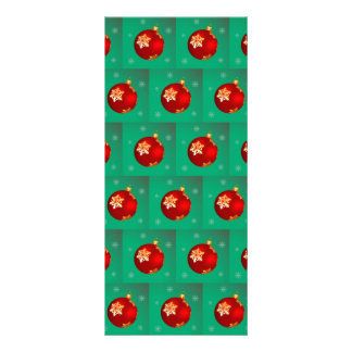 Red Christmas bauble Rack Cards