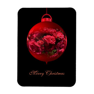 red Christmas bauble Rectangular Photo Magnet