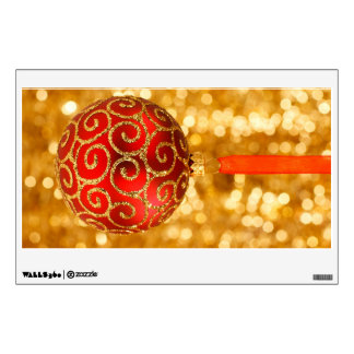 Red Christmas bauble with a glitter pattern Wall Stickers