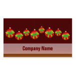 Red Christmas Baubles Business Cards