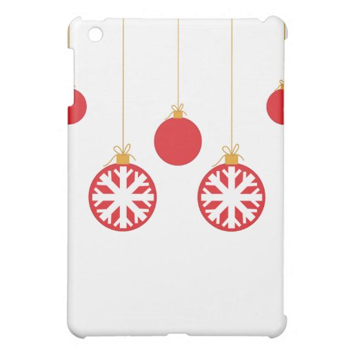 Red Christmas Baubles iPad Case