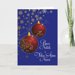Bacon christmas cards zazzle red christmas baubles with italian greeting holiday card m4hsunfo