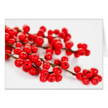 Red Christmas berries Stationery Note Card