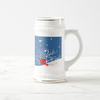 Red Christmas Bird Coffee Mug