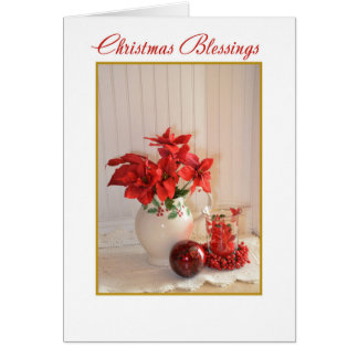 Red Christmas Blessings Card