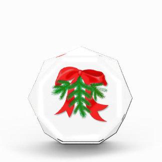 Red Christmas Bow Acrylic Award