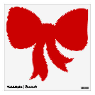 Red Christmas Bow Removable Wall Decal