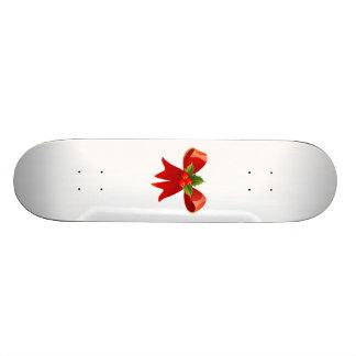 Red Christmas Bow Custom Skateboard
