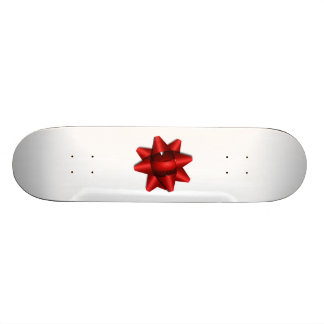 Red Christmas Bow Skate Board Deck