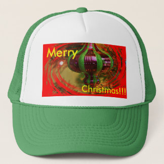 Red Christmas Bulb Christmas Truckers Hat