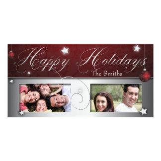 Red Christmas Bulb Happy Holidays Photo Card