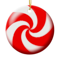 red christmas candy  ornament