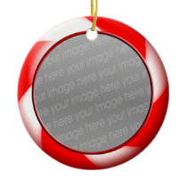 red christmas candy  photo ornament
