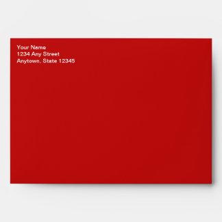 Red Christmas Card Envelope w/ Return Address Envelopes
