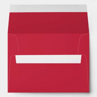 Red Christmas Card Envelope w/ Return Address Envelope