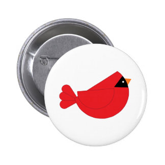 Red Christmas Cardinal Bird 2 Inch Round Button