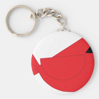 Red Christmas Cardinal Bird Keychain