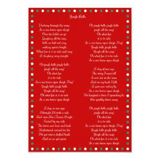 Red Christmas Carol Jingle Bells Christmas Cards
