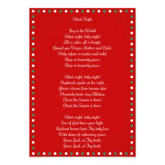 Red Christmas Carol Silent Night Christmas Cards