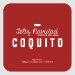 Red Christmas Coquito Square Sticker