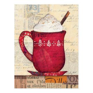 Red Christmas Cup Postcard