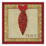 Red Christmas Decoration Love Poster