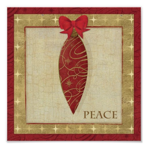 Red Christmas Decoration Love Poster Zazzle