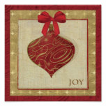 Red Christmas Decoration Peace Poster