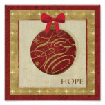 Red Christmas Decorations Poster