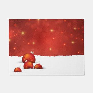 Red Christmas Doormat