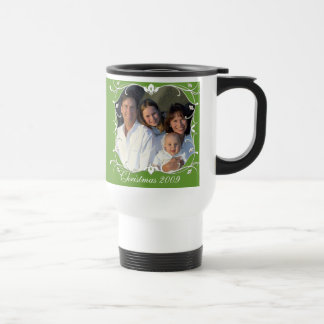 Red Christmas Family Photo Stainless Travel Mug