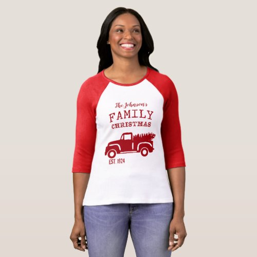 Red Christmas Family Tradition T_Shirt