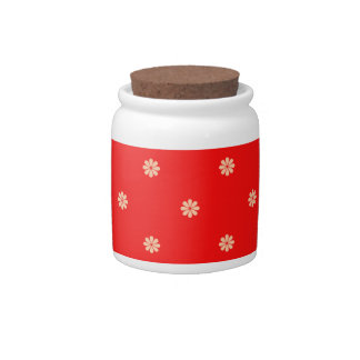 Red Christmas Flake Pattern Candy Jars