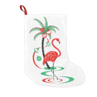 Red  Christmas Flamingo stocking one sided