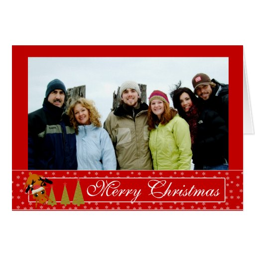 Red christmas funny reindeer holiday card zazzle for Funny reindeer christmas cards