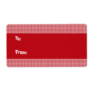 Red Christmas Gift Labels - Large