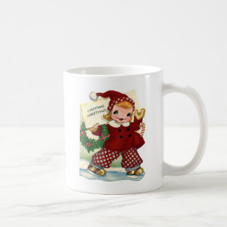 Red Christmas Greetings Coffee Mug