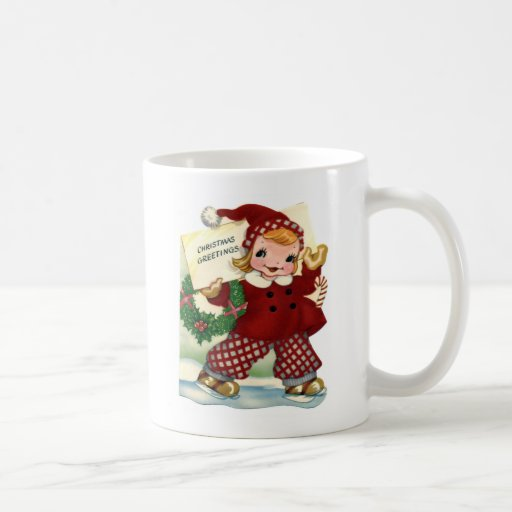 Red Christmas Greetings Mug