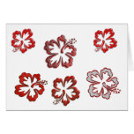 Red Christmas Hibiscus Greeting Card