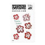 Red Christmas Hibiscus Postage