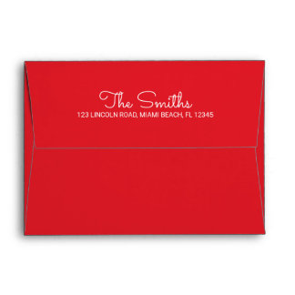 Red Christmas Holiday Envelope