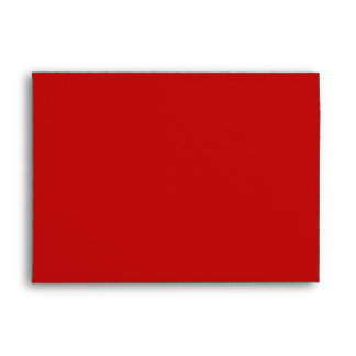 Red Christmas Holiday Greeting Card Envelope Envelope