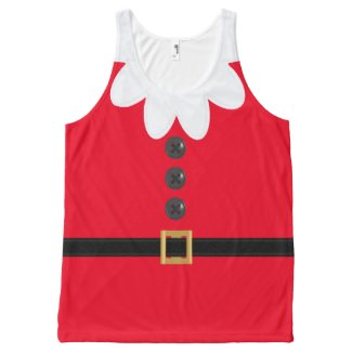 Red Christmas in July Elf Novelty XL Tank Top