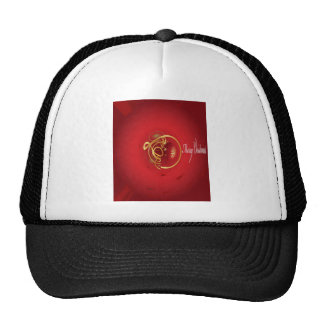 Red Christmas Jingle Bells Have a Blessed Nice Day Trucker Hat