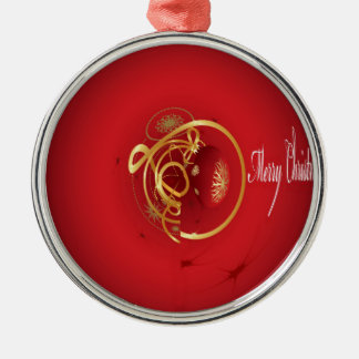 Red Christmas Jingle Bells Have a Blessed Nice Day Metal Ornament